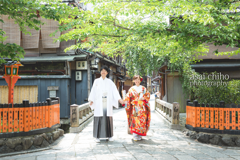 京都は祇園での結婚式前撮り