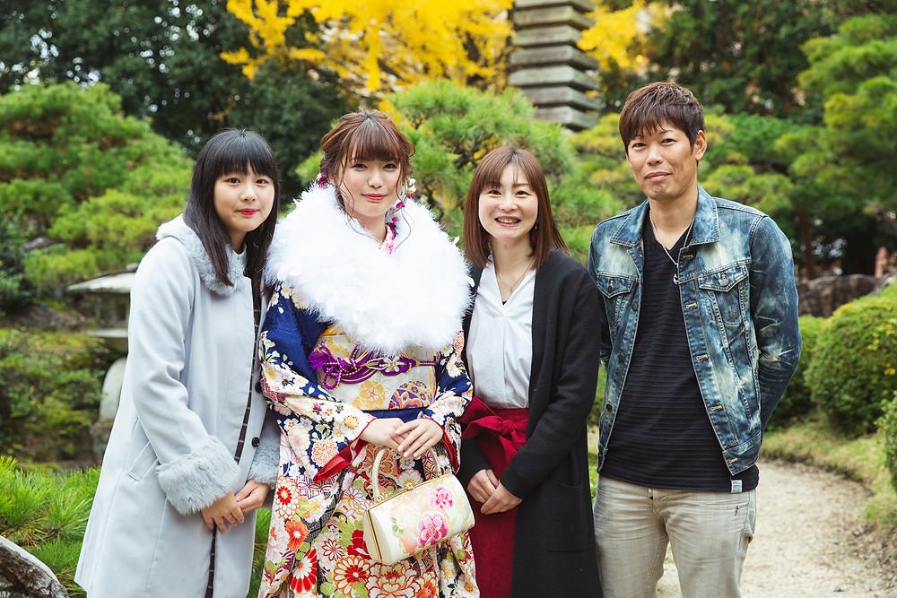 滋賀県長浜市のフォトスタジオと慶雲館で成人式の前撮り撮影