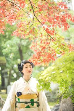 滋賀県長浜市の慶雲館でで成人前撮り撮影