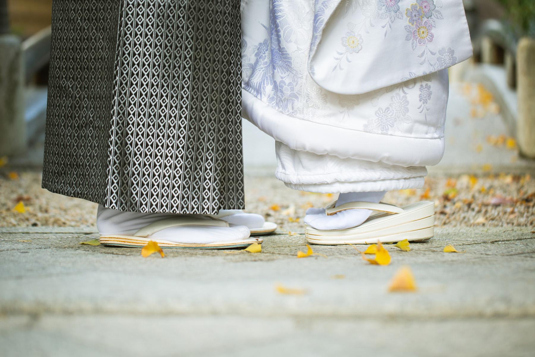 滋賀県長浜市の慶雲館にて、白無垢姿で結婚前撮り撮影