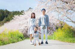 滋賀県彦根市での家族写真撮影