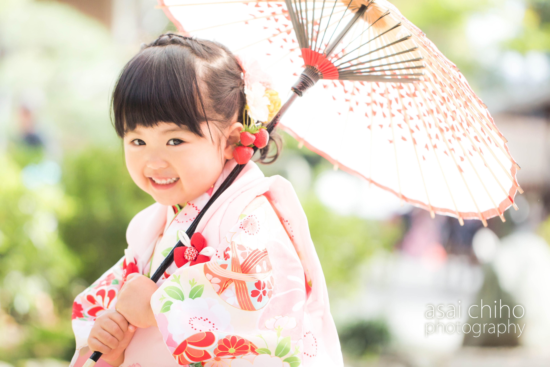 滋賀県彦根市の多賀大社での七五三撮影