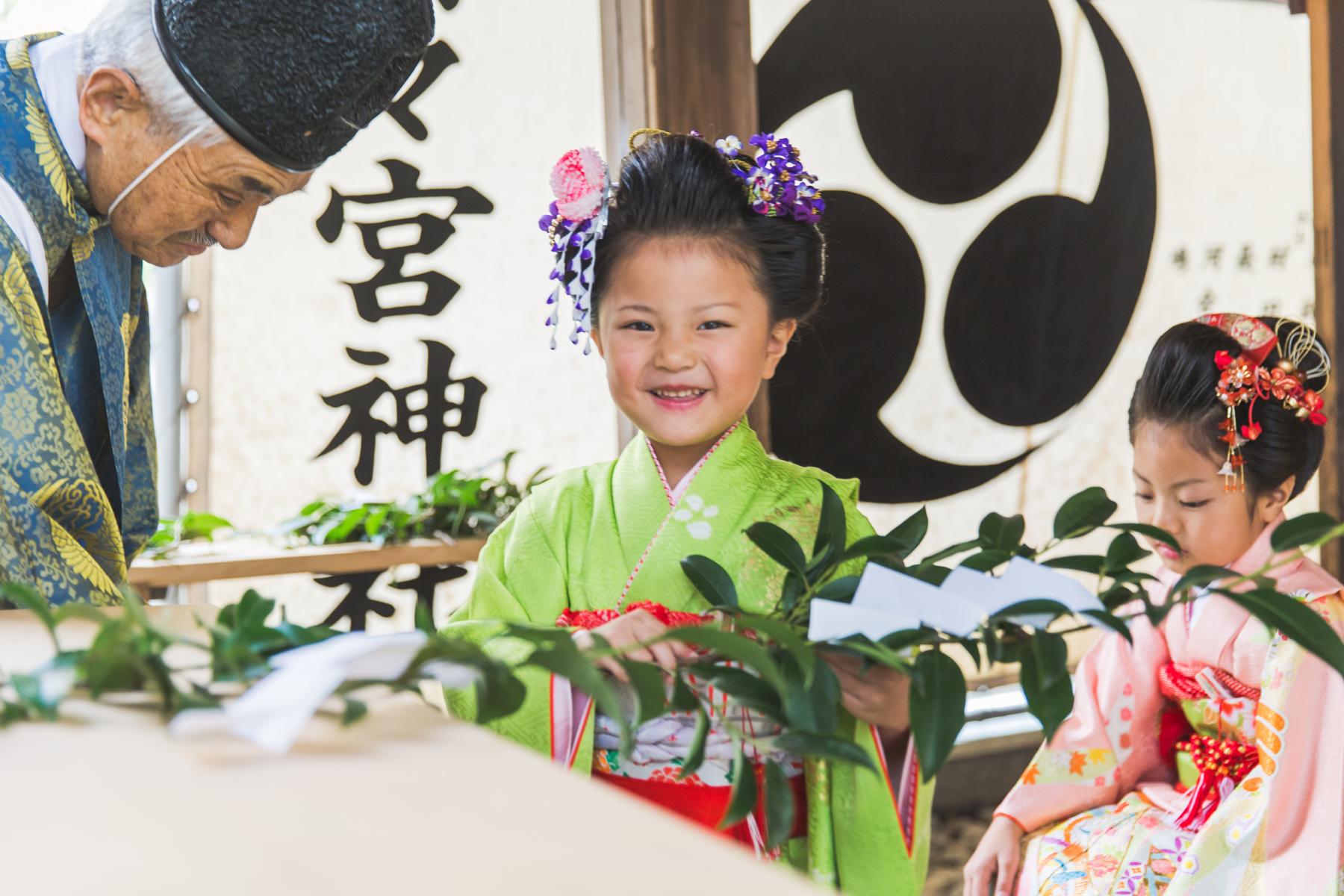 滋賀県東近江市の野々宮神社で七五三出張撮影