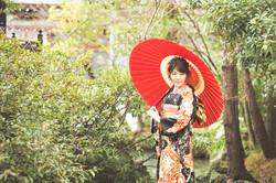 滋賀県長浜市の八幡さんで成人前撮り