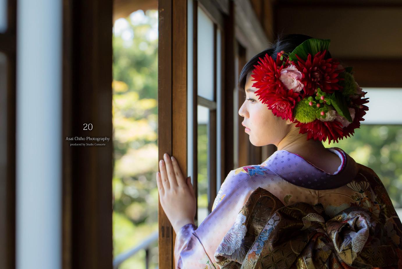 滋賀県長浜市の慶雲館での成人式前撮り撮影のお写真