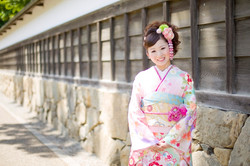 滋賀県彦根市の玄宮園での成人式前撮り撮影のお写真