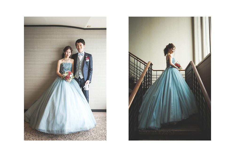 鳥羽国際ホテルでカレードレスを着て結婚ご披露宴