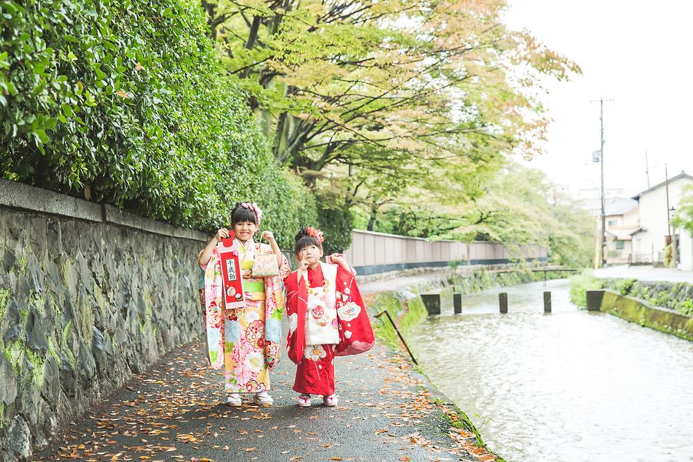 京都市左京区にある平安神宮にてフリーカメラマンによる七五三出張撮影
