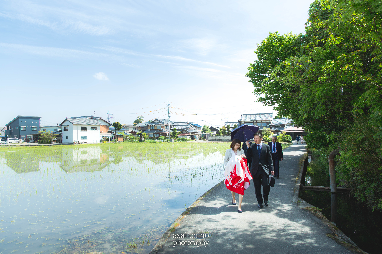 滋賀県愛荘町でのお宮参り撮影のお写真