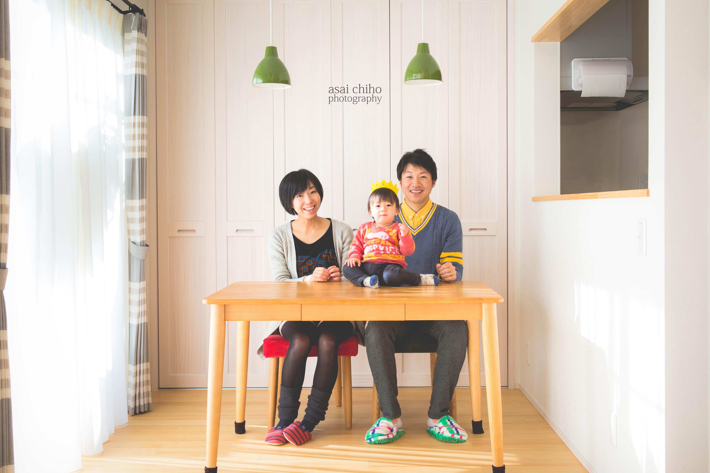滋賀県東近江市での1歳誕生日撮影