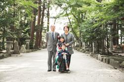 滋賀県近江八幡市安土町の奥石神社で七五三撮影