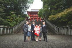 滋賀県は近江神宮でお宮参り撮影