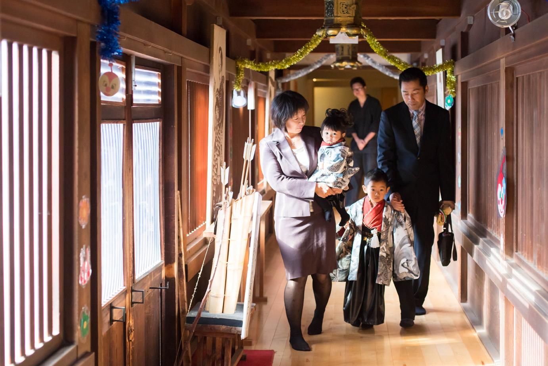 滋賀県長浜市の長浜八幡宮で七五三前撮り撮影