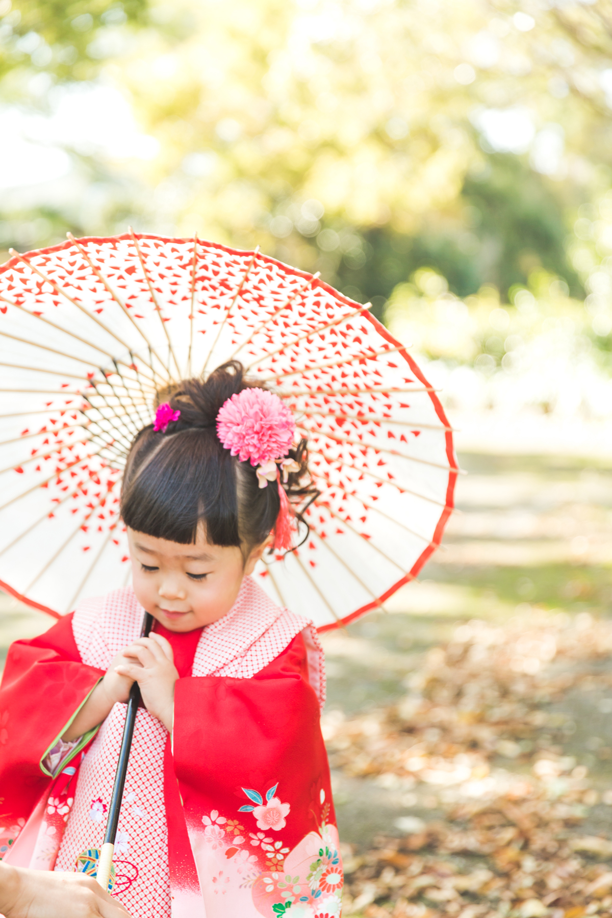 滋賀県彦根市の公園で七五三のお散歩フォト