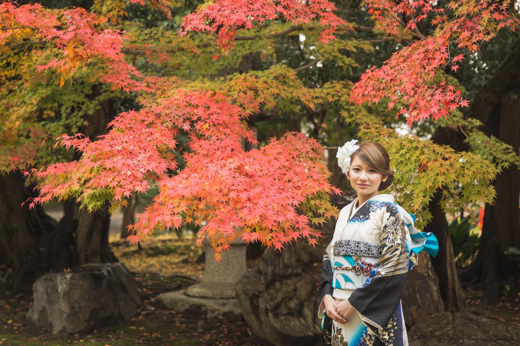 滋賀県長浜市の慶雲館で成人前撮り撮影