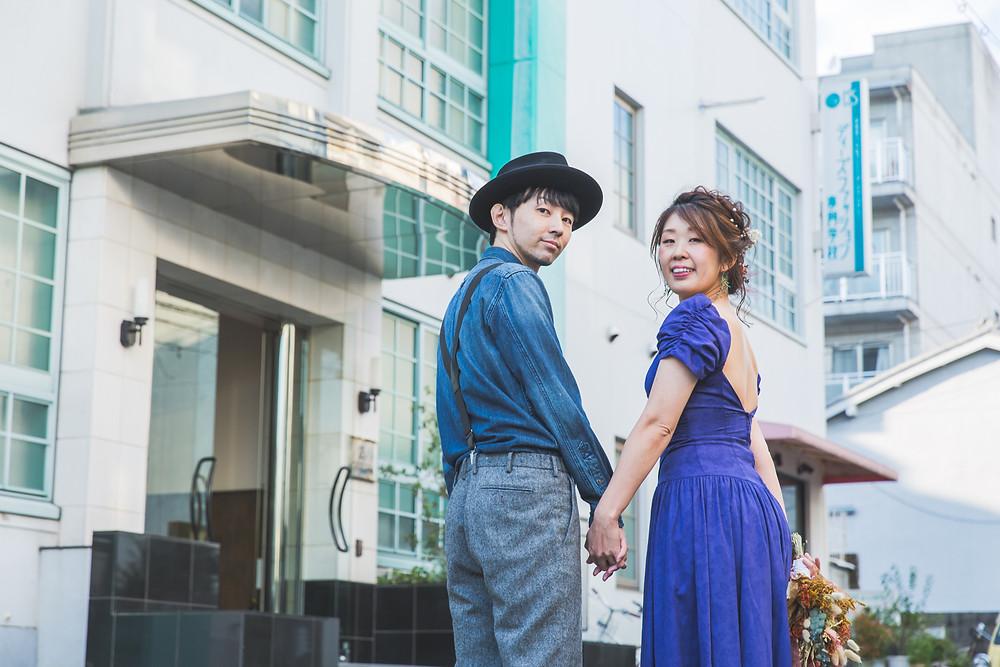 京都市下京区にあるディーズファッション専門学校でウェディングフォト