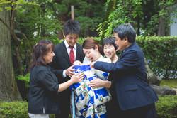 滋賀県犬上郡の多賀大社でのお宮参り撮影のお写真