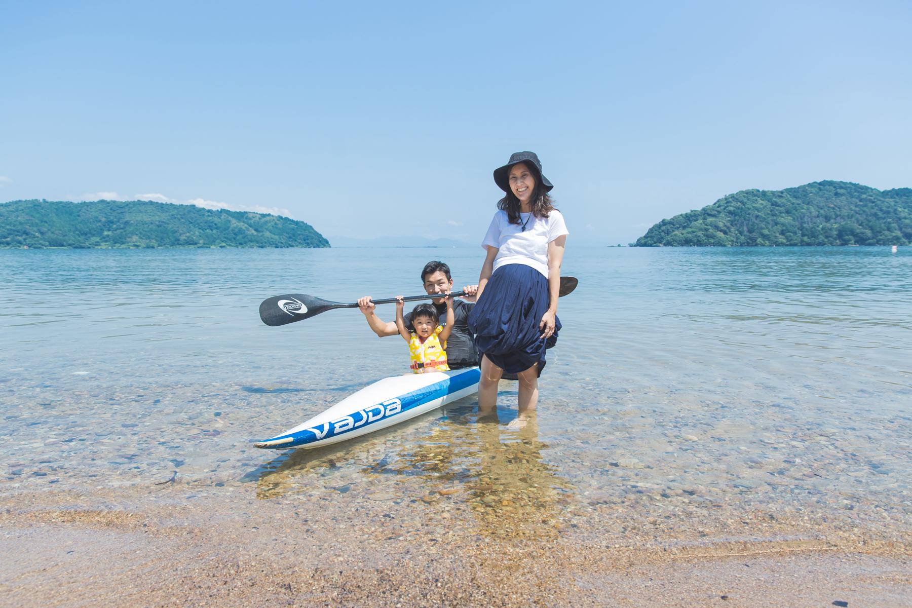 琵琶湖で家族写真撮影!