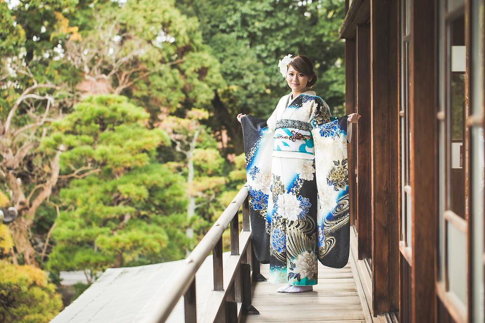 滋賀県長浜市の慶雲館で成人前撮り撮影をフリーカメラマンがしました