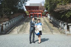 滋賀県大津市の近江神宮でお宮参り出張撮影