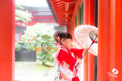 滋賀県大津市の近江神宮で七五三撮影