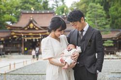 滋賀県の新築のお家と多賀大社でお宮参り出張写真撮影