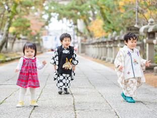 双子くんの七五三出張撮影 | 長浜八幡宮とスタジオ | 滋賀県長浜市