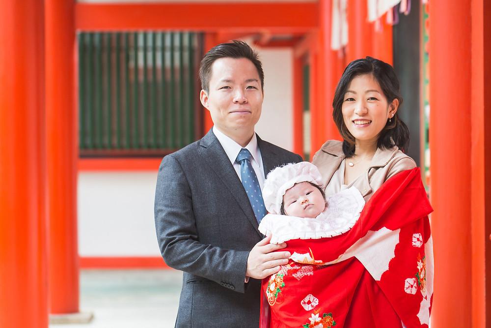 滋賀県大津市の近江神宮でお宮参りの出張撮影