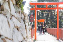 滋賀県長浜市の竹生島での結婚式撮影