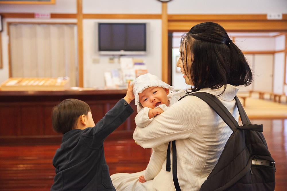 滋賀県犬上郡多賀町の多賀大社でお宮参り出張撮影