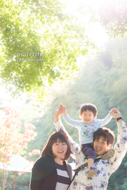 兵庫県須磨のご家族の記念撮影