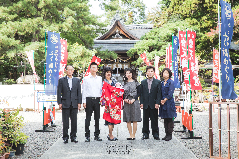 滋賀県彦根市の天満宮でのお宮参り撮影の写真