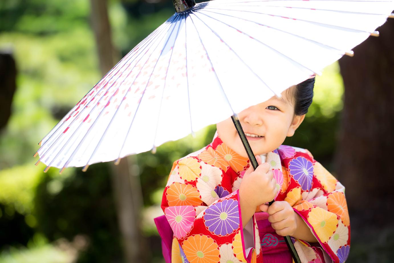 滋賀県長浜市の慶雲館で七五三前撮り撮影