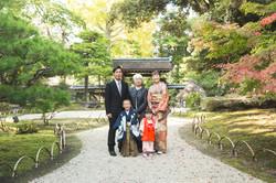 滋賀県長浜市の慶雲館で七五三の写真撮影
