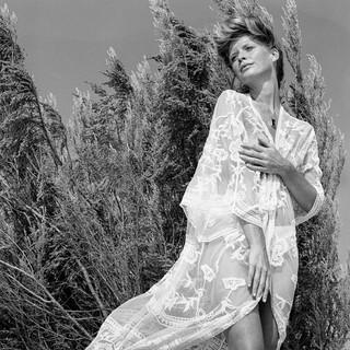 Elize Been |  Redhead Modeleert Gordijn
