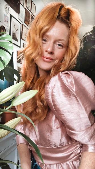 Model rood haar