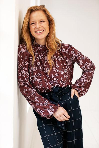 Model met rood haar