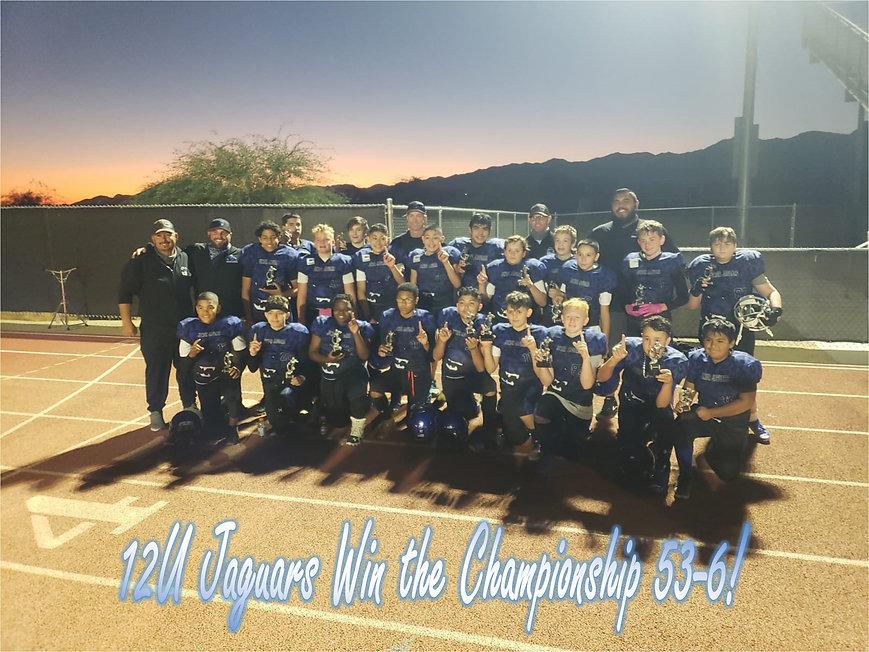 12U Junior Jaguars Fall 2020 Champions