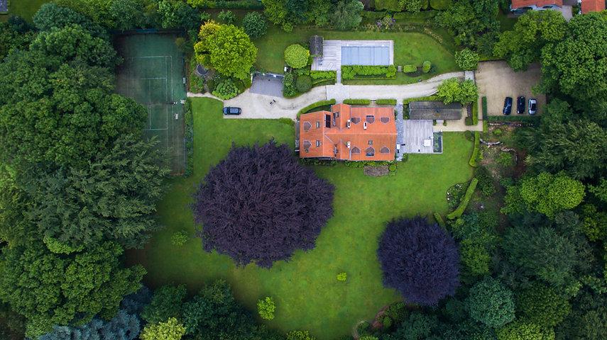 Foto aerea di un patrimonio immobiliare