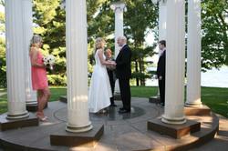 Evening wedding at Norerenberg Garden Mi
