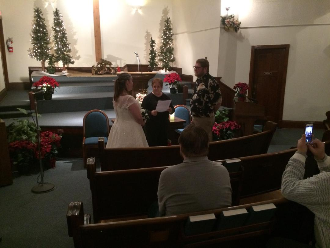 Intimate wedding at Immanuel Baptist Chu