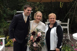 Outdoor wedding at the Minnetonka Orchar