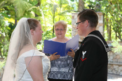 Golf course wedding officiant in Califor