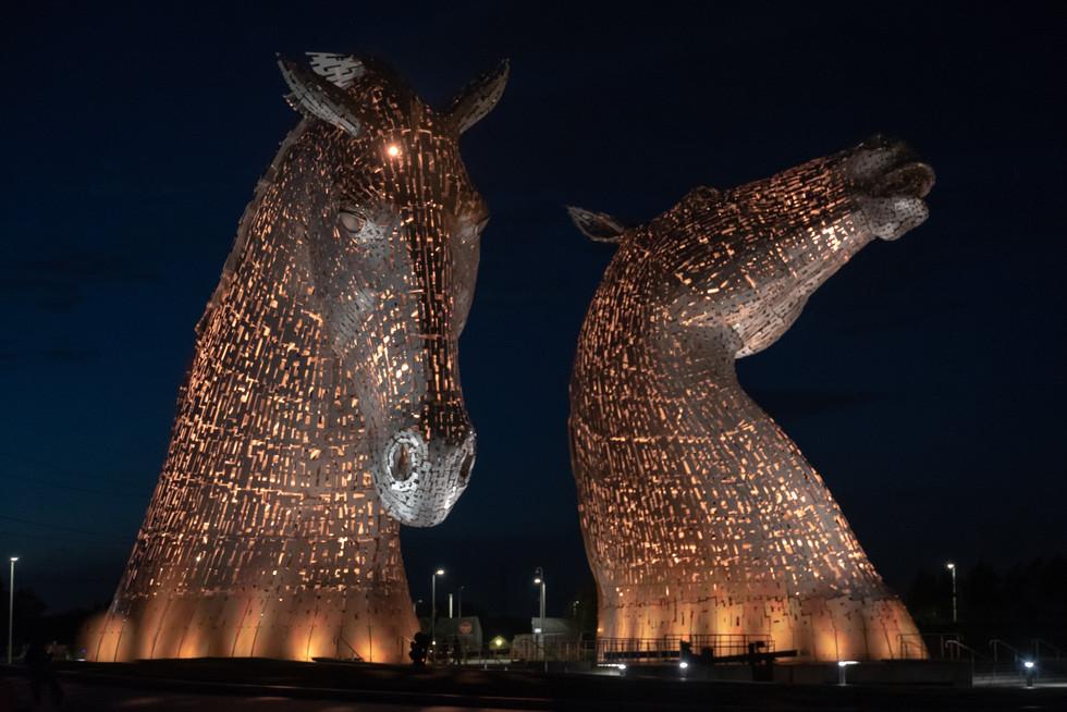 THe Kelpies, Falkirk, Scotland. (bronze)