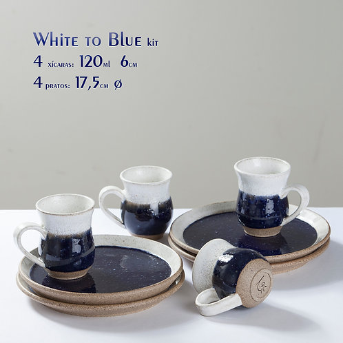 White to Blue kit