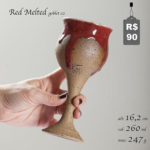 Red Melted Goblet 02
