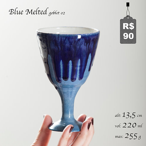 Blue Melted Goblet 02