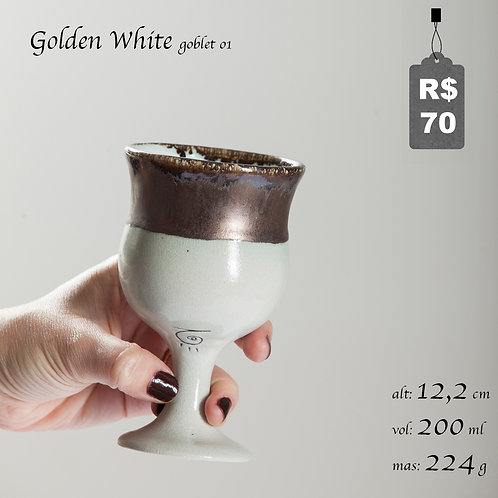Golden White Goblet 01