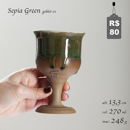Sepia Green Goblet 01