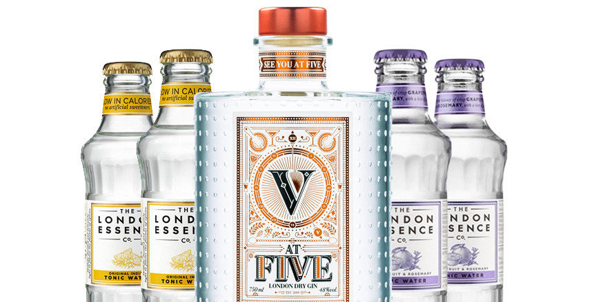 AT FIVE GIN + 4 tônicas London Essence